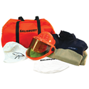 Salisbury Arc Flash HRC2 Level Kit, No Gloves, FR Cotton 11 Cal Two Color Navy-Khaki Coverall