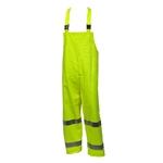 Flame Resistant Yellow Fluorescent Rain Bib Overalls ASTM F2733